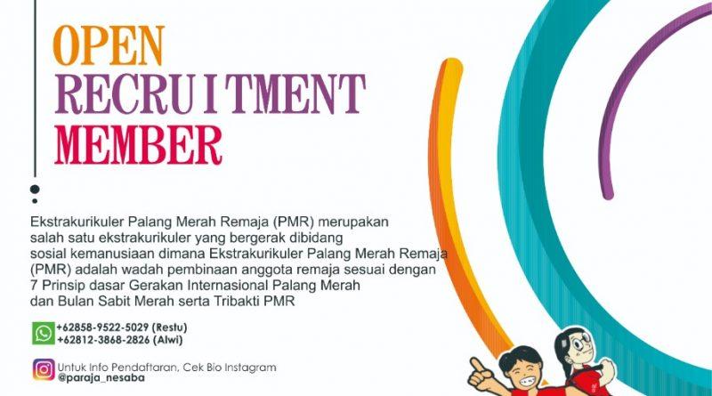 Open Recruitment Member PMR Wira SMKN 1 Bangil